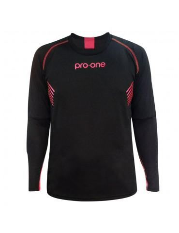 Camiseta de Arquero Pro-One Tempo Negro/Rosado (Niños)