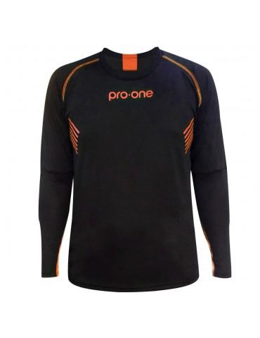 Camiseta de Arquero Pro-One Tempo Negro/Coral (Niños)