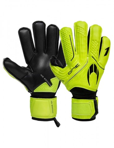 Guantes HO Soccer One Flat Protek Neon Lime